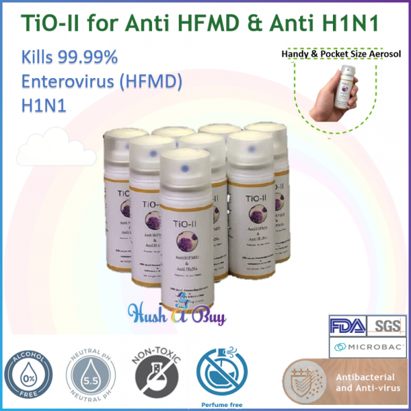TiO-II for Anti HFMD & Anti H1N1 Aerosol Spray 35g