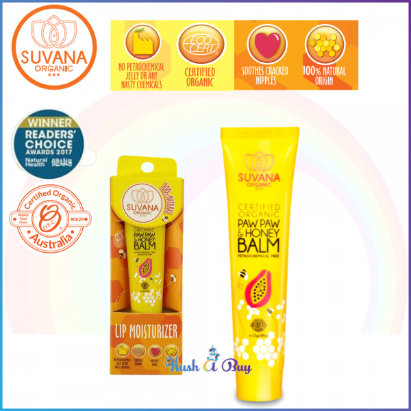 Suvana Paw Paw / Pawpaw and Honey Balm for Lips/ Cracked Nipple/Insect Bites 7g / 25g