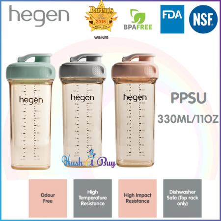 Hegen PCTO Drinking Bottle PPSU 330ml/11oz - Grey/ Pink/Green