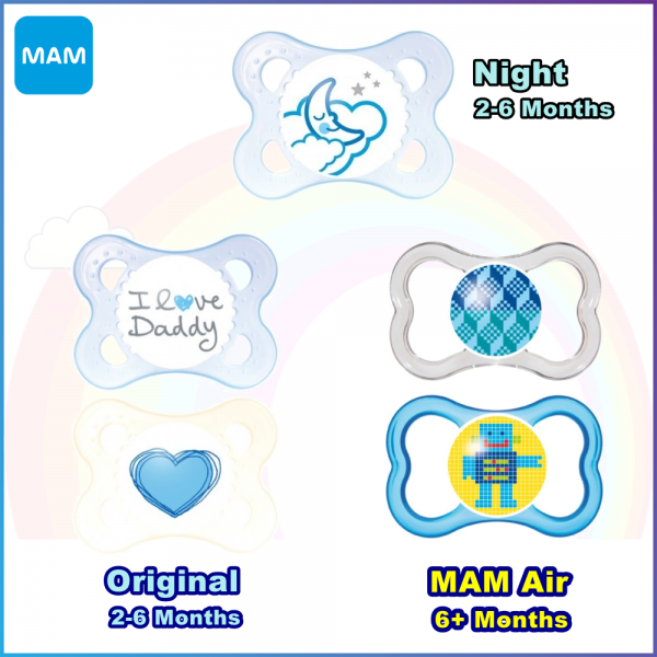 MAM Orthodontic Silicone Pacifier 2-6 Months, 6 Months