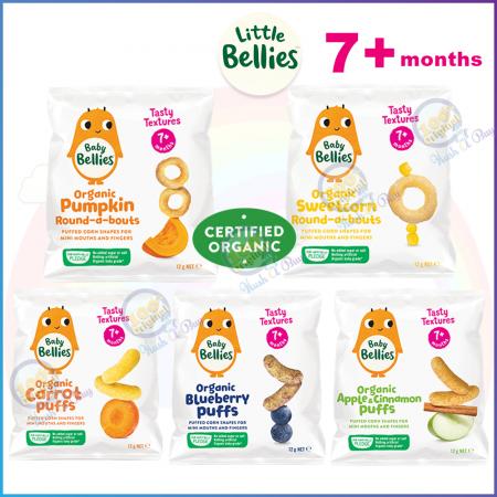 【SALES】Little Bellies Organic Puffs/FiddleSticks/Animal/Gingerbreadman Biscuit from 7+Months - 12+Months