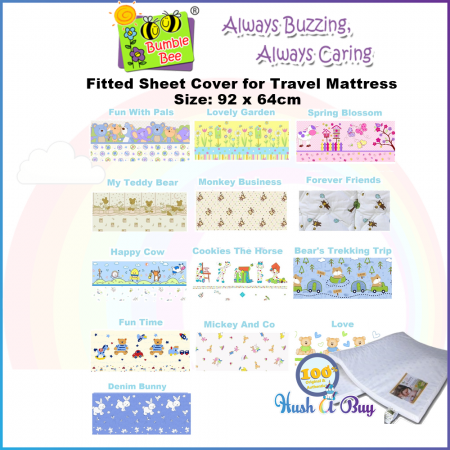 Bumble Bee Playpen, Baby Cot, Travel Matress Fitted Sheet