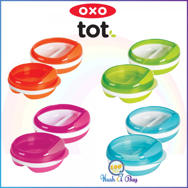 OXO TOT Divided Feeding Dish with Removable Ring / Lid 5oz/150ml