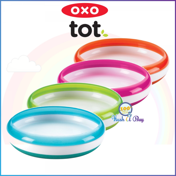OXO TOT Training Plate with Removable Ring/Lid