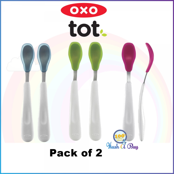 OXO TOT Feeding Spoon with Soft Silicone 2-Packs