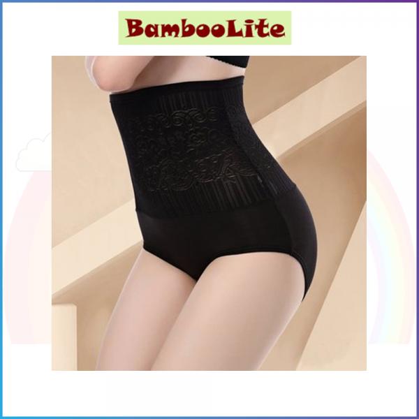 BambooLite Control Panties - Purple, Black